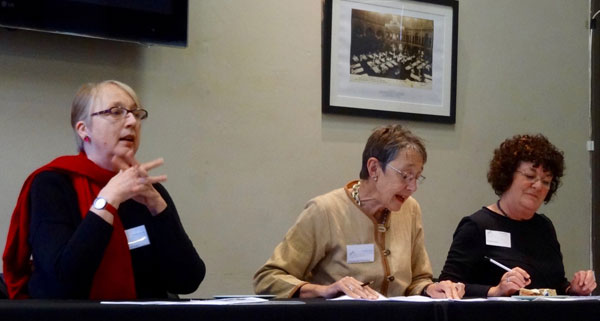 Officers at the 2016 AGM: Mary McKean, Margaret Polmear and Christine Moon