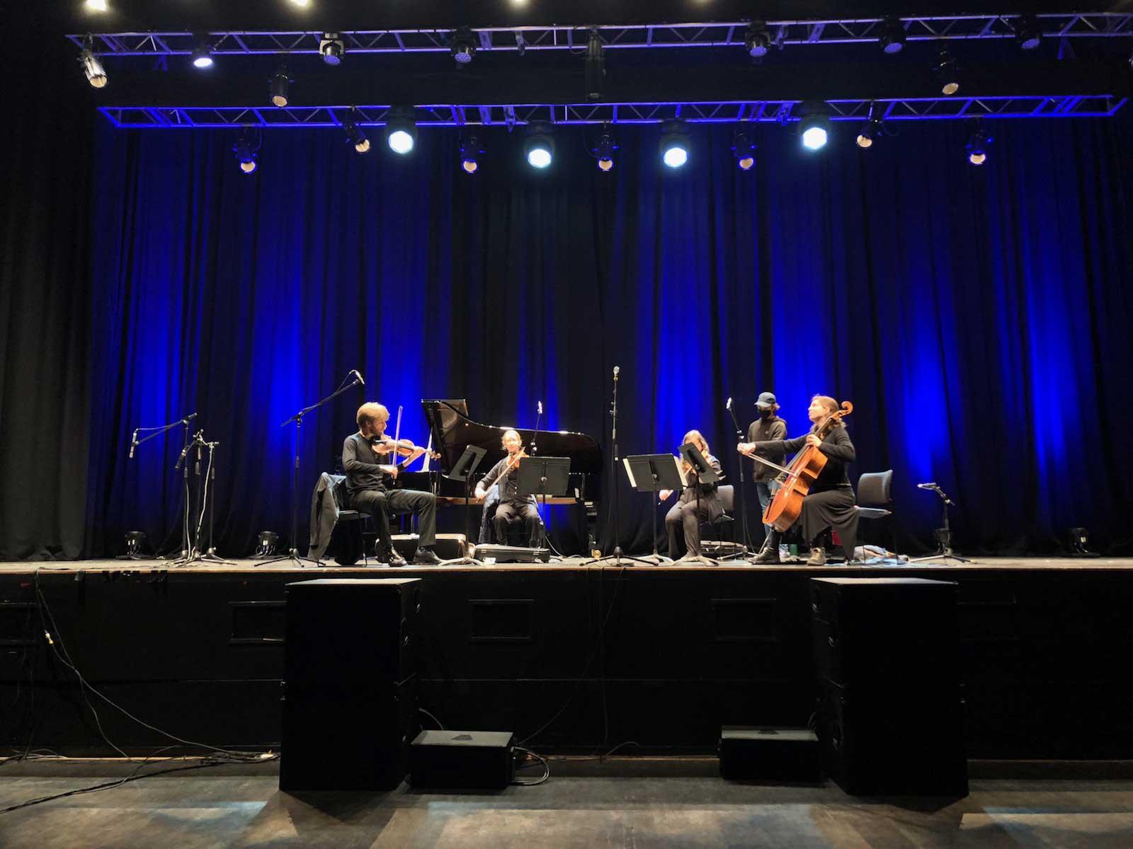 The Gildas rehearsing in the Brighton Dome Concert Hall