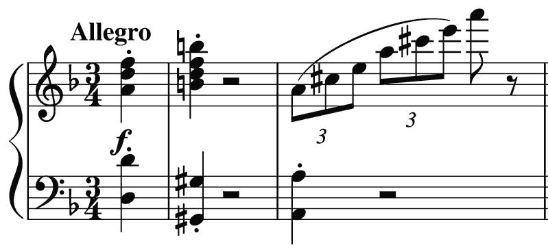 Hummel quintet's Allegro second movement