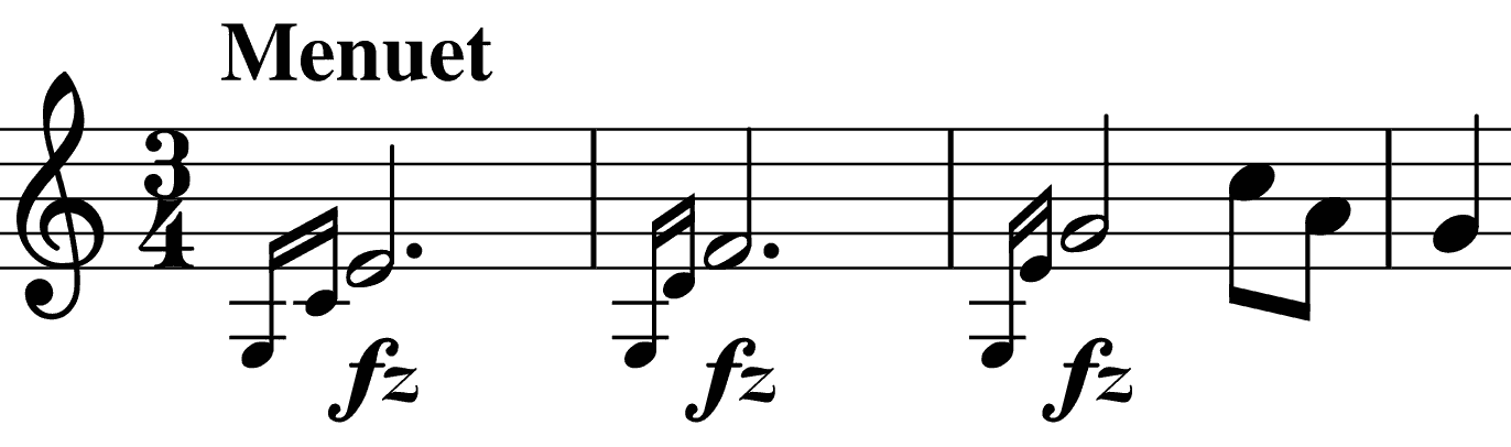 Menuet's rising theme