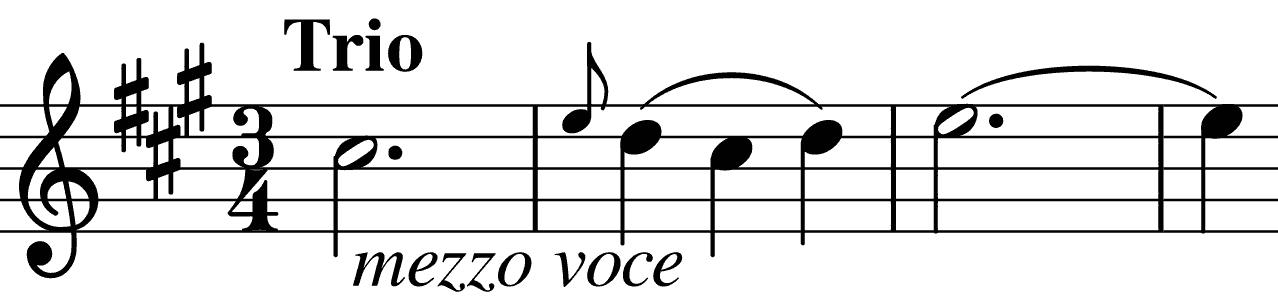 Trio's A major