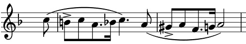 dotted rhythm of a yearning tune