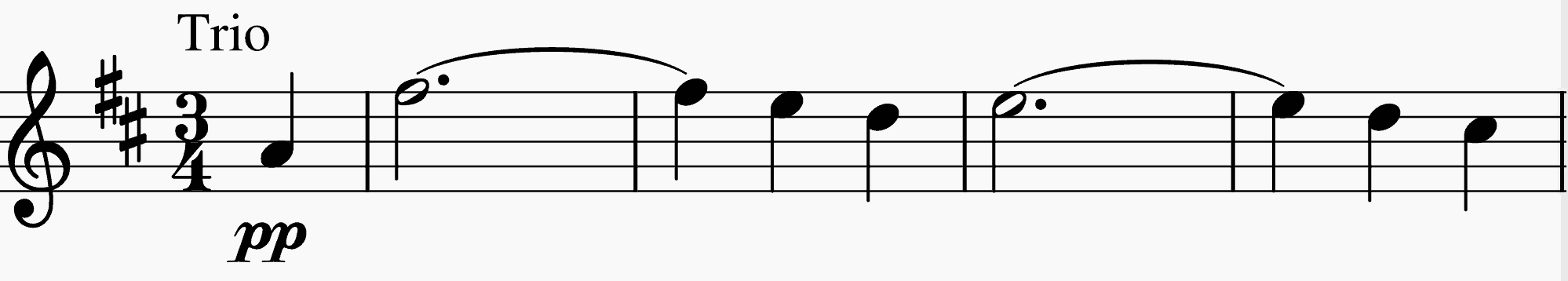 Trio's D-major theme