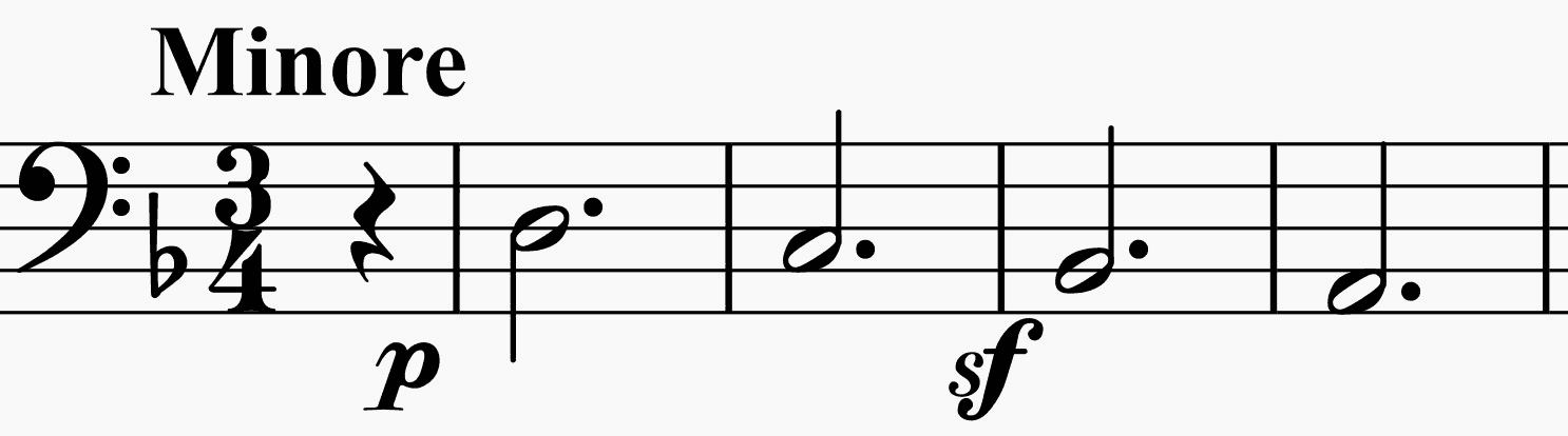 descending four note bass line