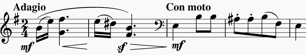 Janáček opening elements