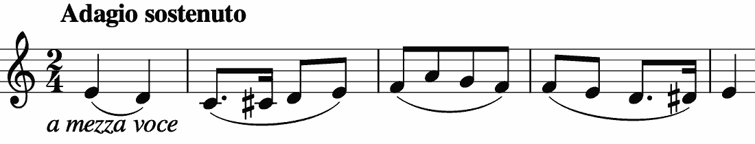 two dotted notes paradoxically increasing the effect